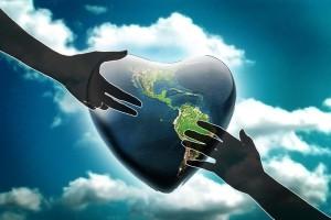 compassion heart globe